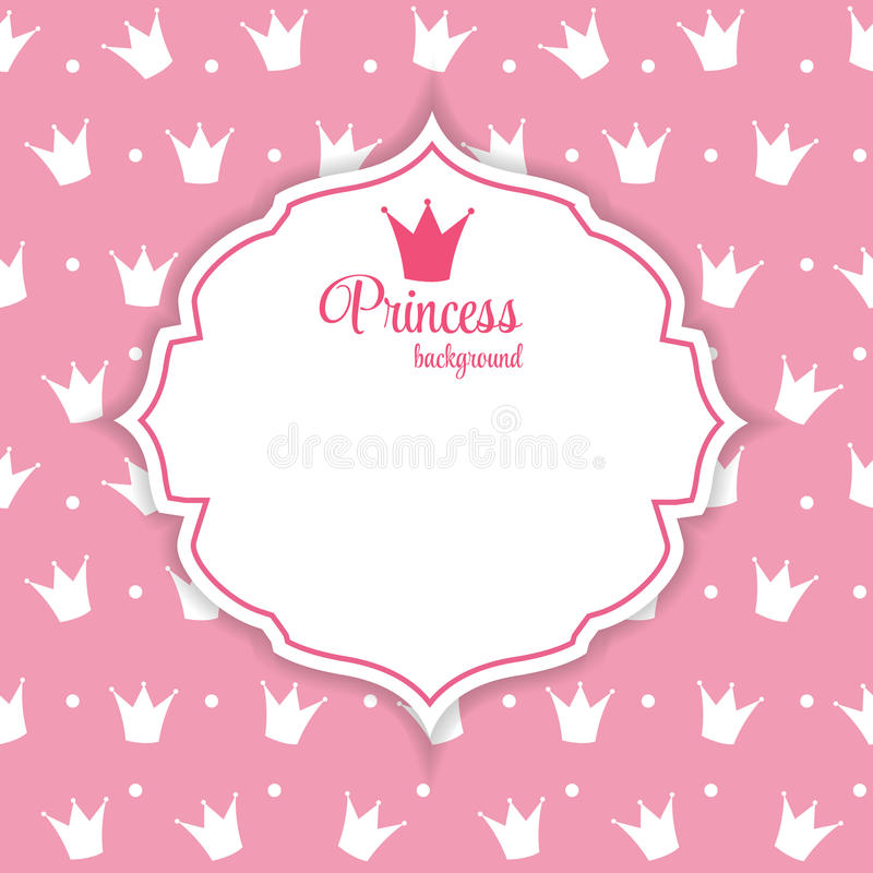 Prinzessin Crown Background Vector Illustration. stock abbildung