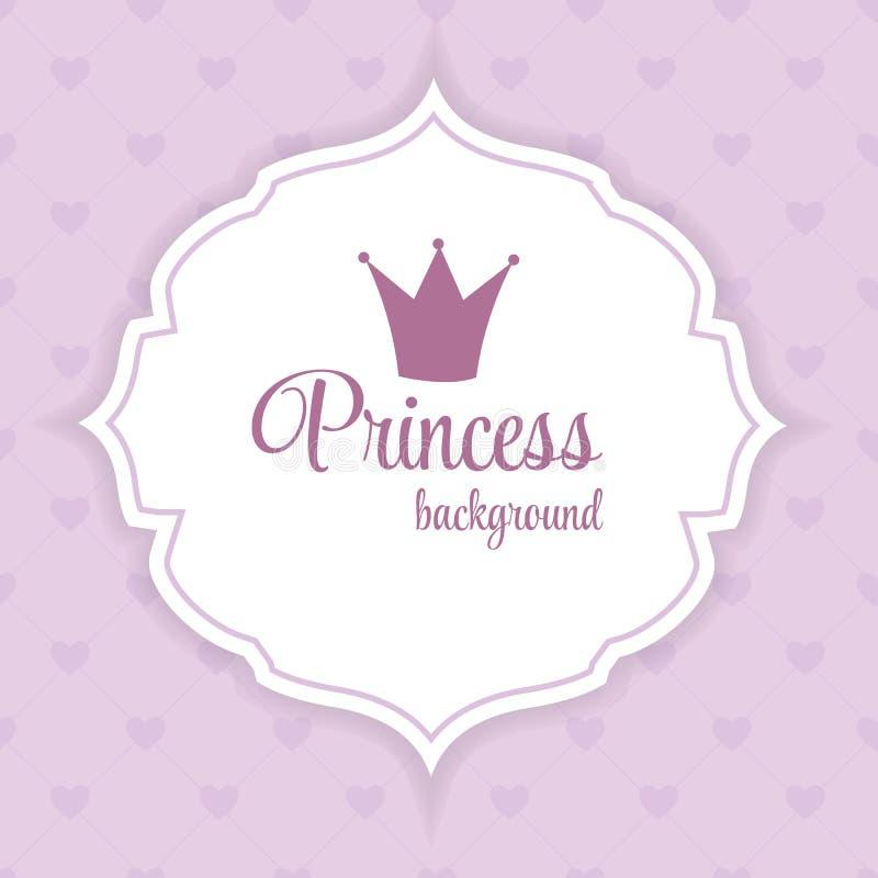 Prinzessin Crown Background Vector Illustration stock abbildung