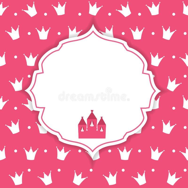 Prinzessin Crown Background Vector Illustration lizenzfreie abbildung