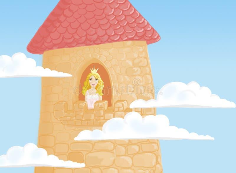 Prinzessin im Kontrollturm lizenzfreie abbildung