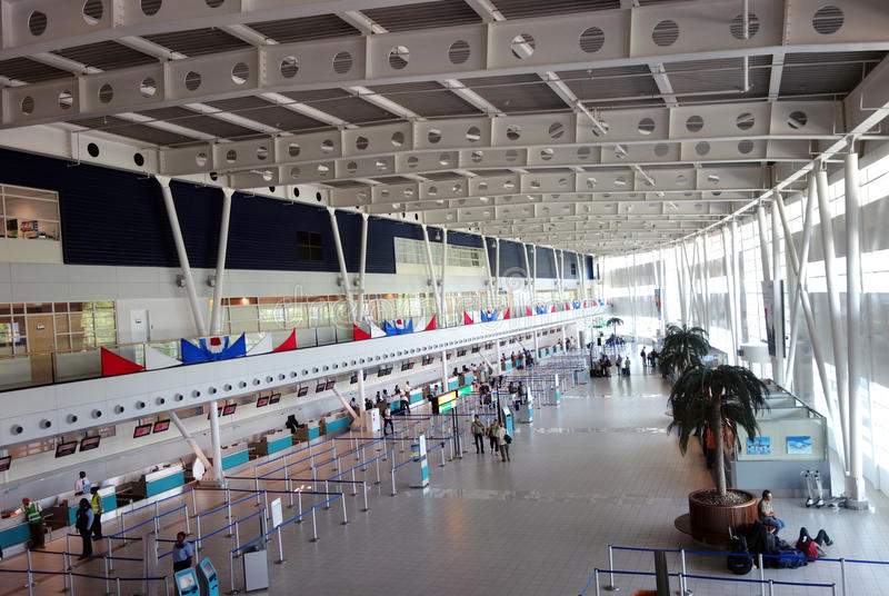 Flughafenabfertigungsgebäude Prinzessin-Juliana International in St Martin. lizenzfreie stockfotos