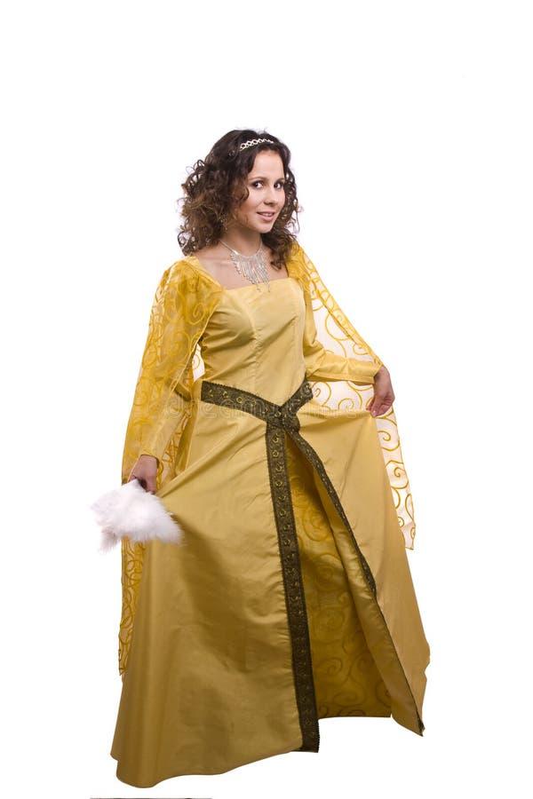 Prinzessin kostümiert Frau stockbilder