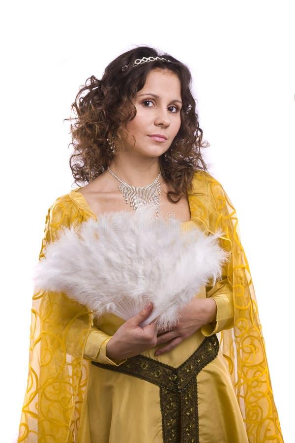 Prinzessin kostümiert Frau lizenzfreie stockfotografie