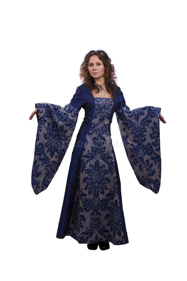 Prinzessin kostümiert Frau lizenzfreies stockfoto