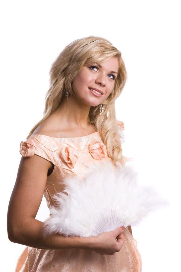 Prinzessin kostümiert Frau lizenzfreie stockbilder