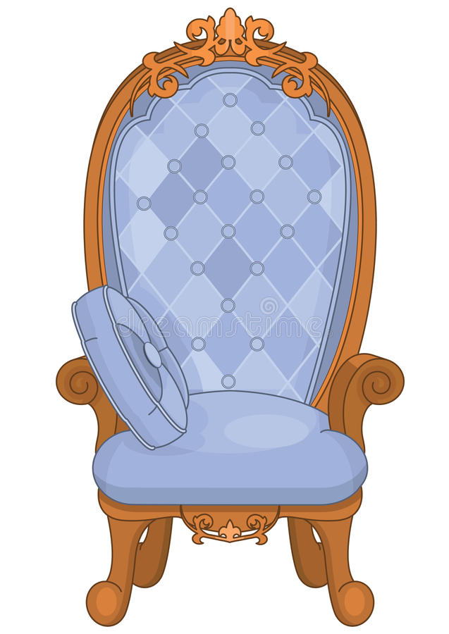 Prinzessin Throne lizenzfreie abbildung
