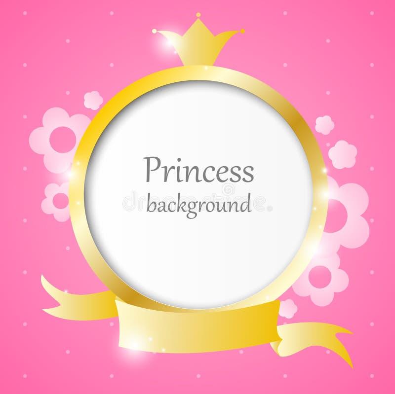 Prinzessinhintergrund vektor abbildung