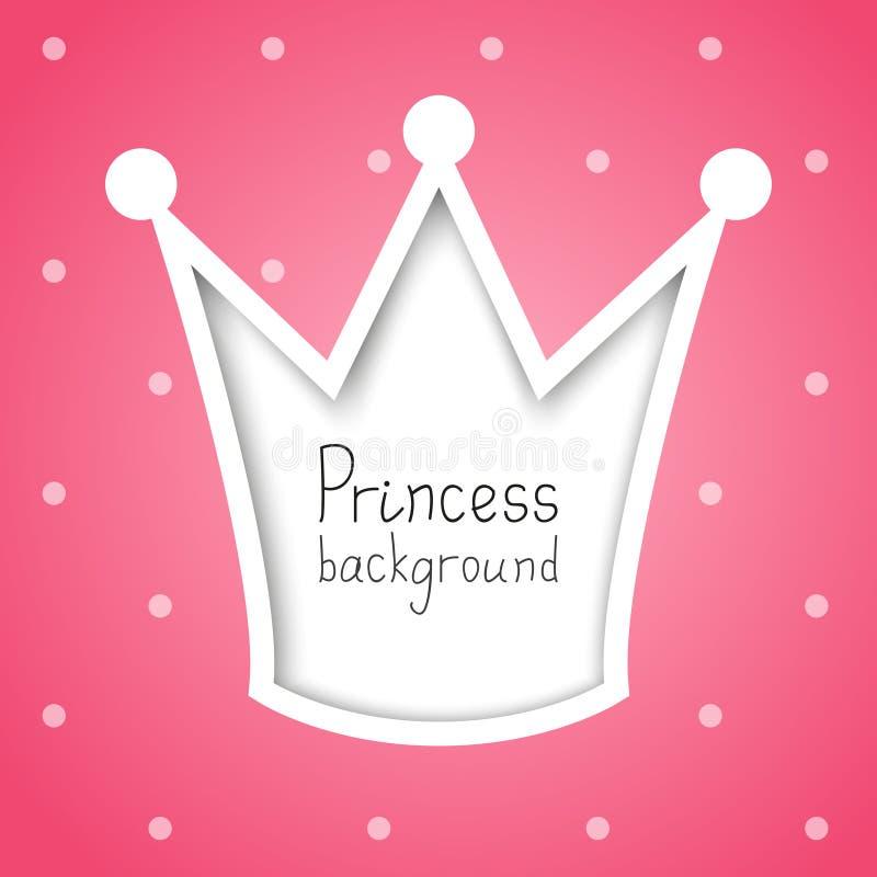 Prinzessinhintergrund lizenzfreie abbildung