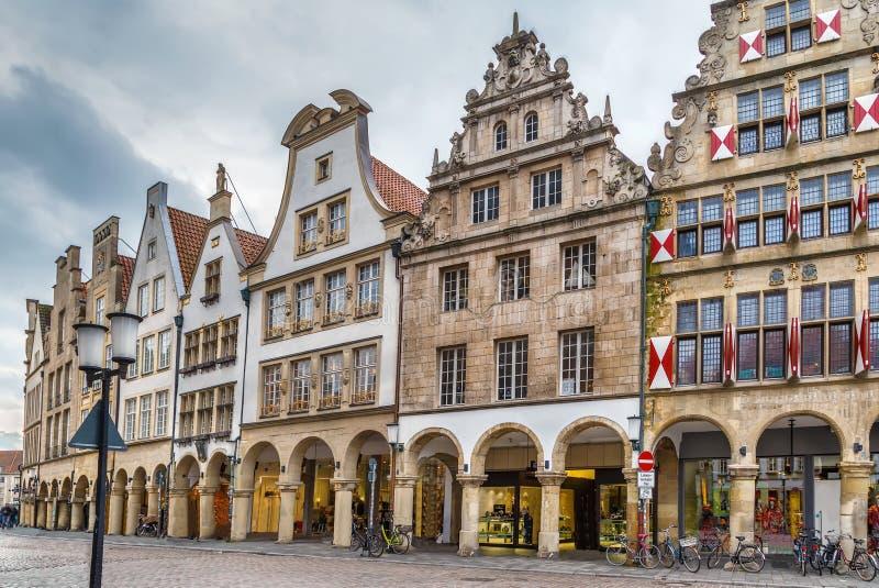 Prinzipalmarkt, Munster, Germania fotografia stock libera da diritti
