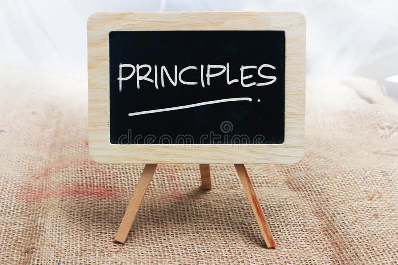 Prinzipien, Motivwort-Zitat-Konzept vektor abbildung