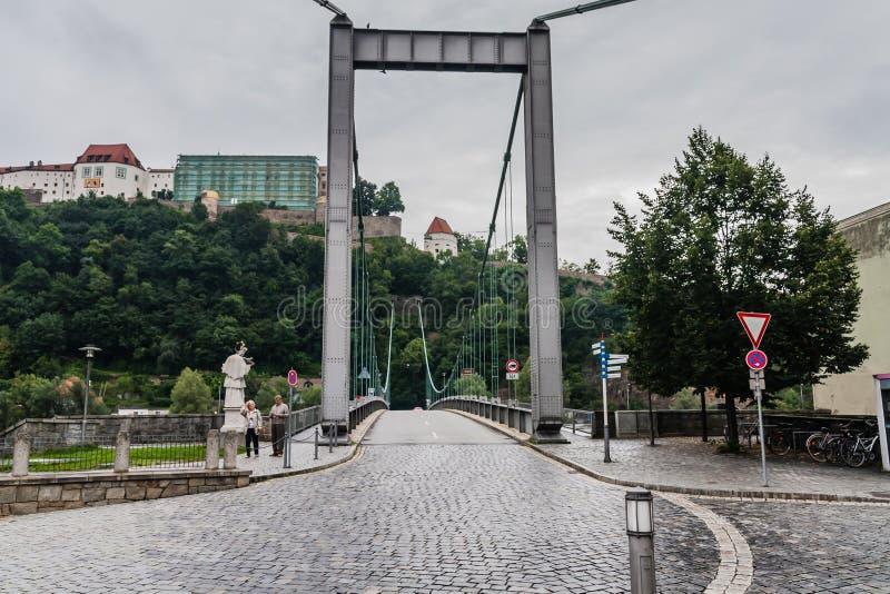 Prinzregent-Luitpold Brücke The Luitpold Bridge, Passau. A 136 m long bridge across the Danube River royalty free stock images