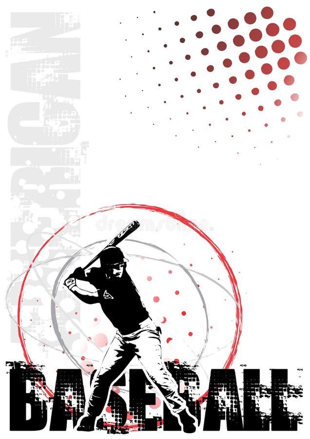 Priorità bassa 2 del manifesto del cerchio di baseball illustrazione vettoriale