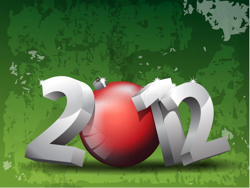 priorità bassa 2012 illustrazione vettoriale