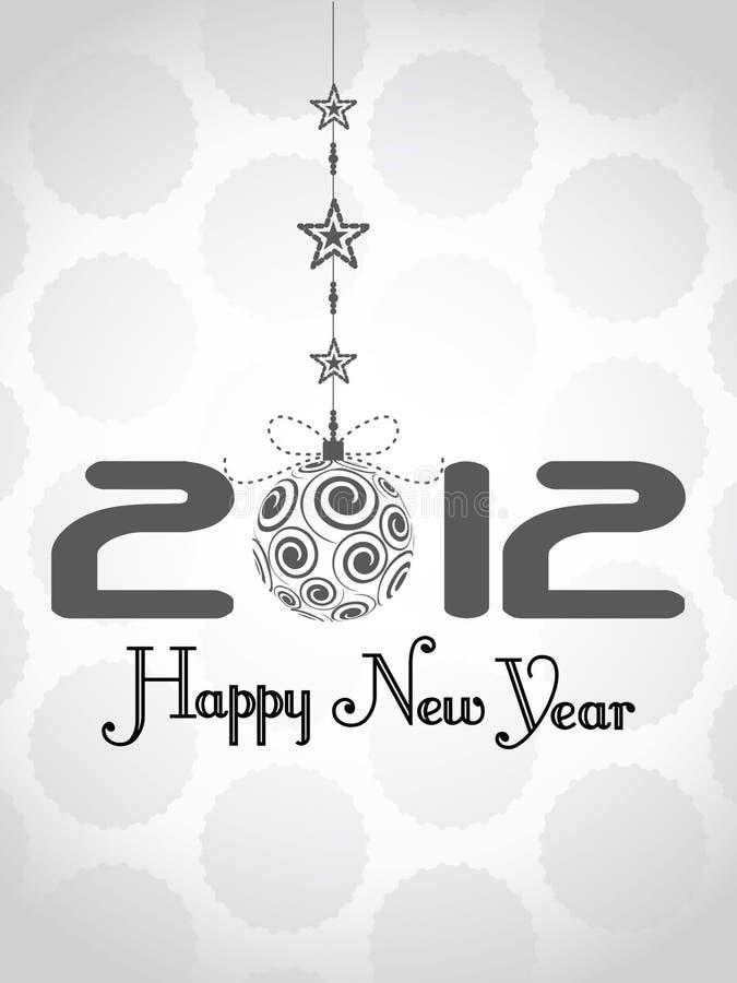Priorità bassa 2012 di nuovo anno felice illustrazione vettoriale