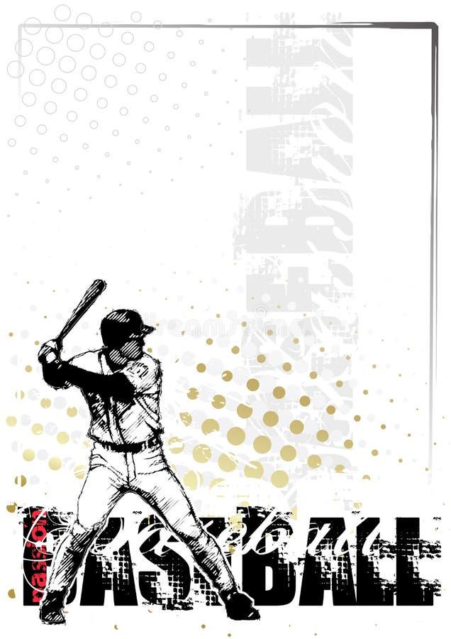 Priorità bassa 3 di baseball illustrazione di stock