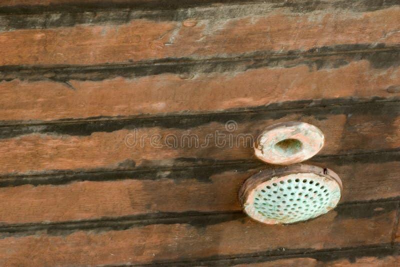 Priorità bassa 41 di Grunge: Scafo della nave di legno fotografia stock libera da diritti