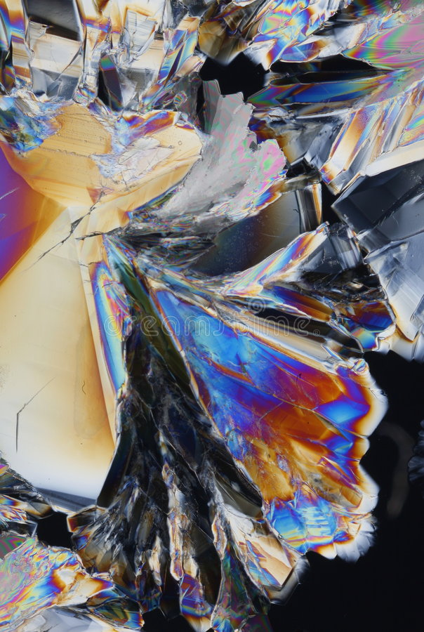 Priorità bassa acida dei cristalli fotografie stock libere da diritti