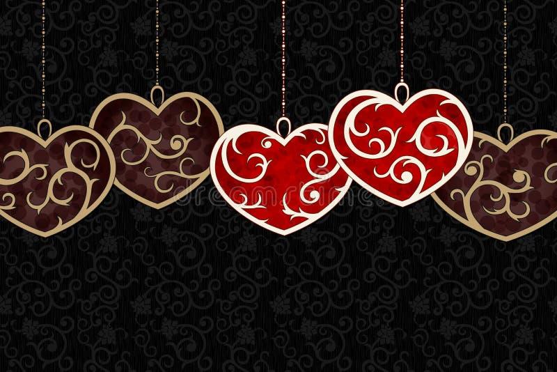 Priorità bassa alla moda del biglietto di S. Valentino royalty illustrazione gratis