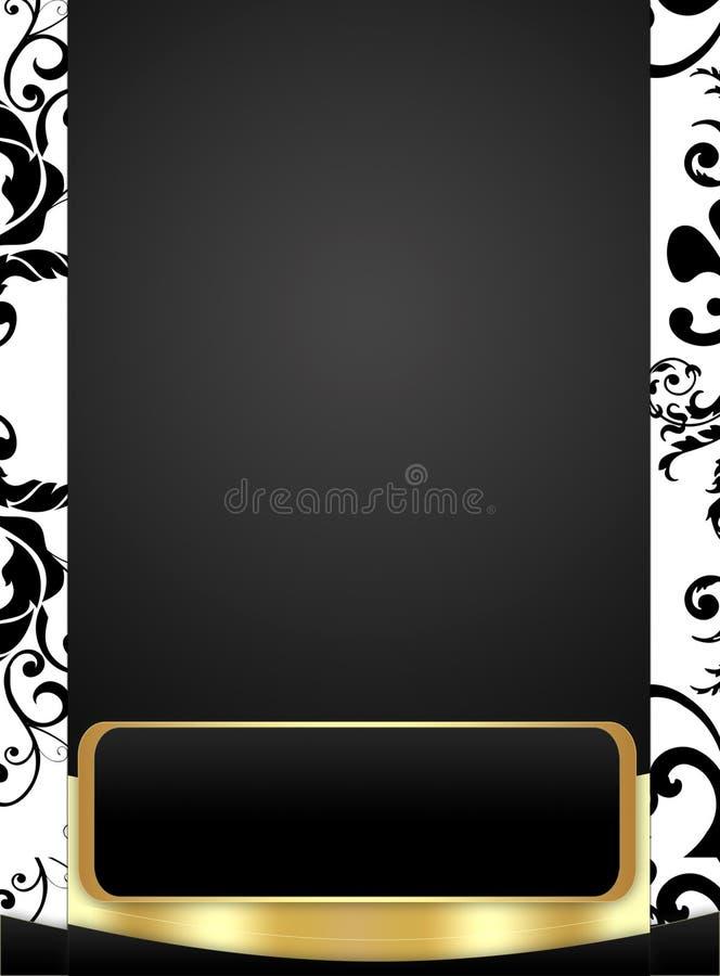 Priorità bassa alla moda in nero & nel bianco illustrazione di stock