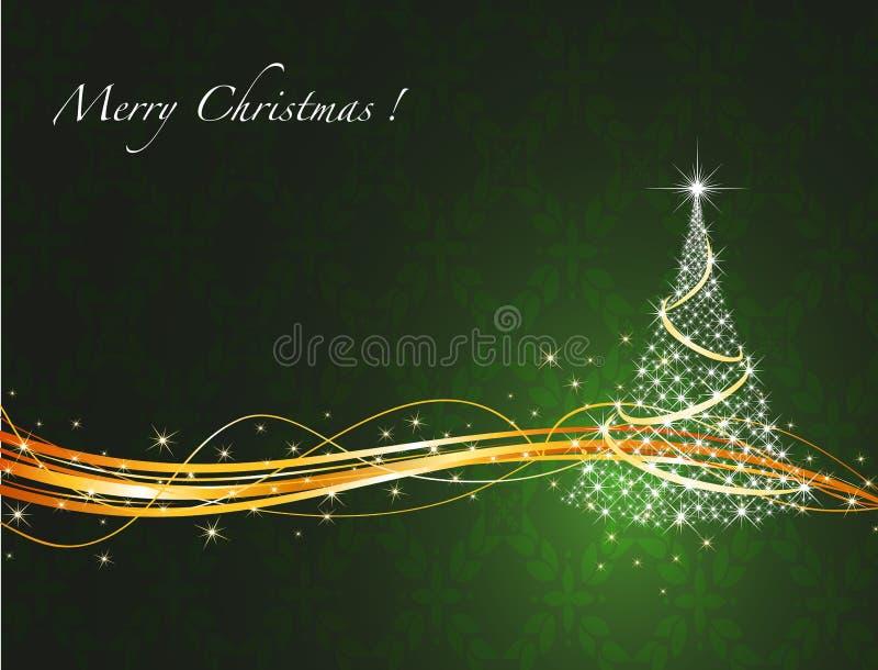 Priorità bassa allegra dell'albero di Natale royalty illustrazione gratis