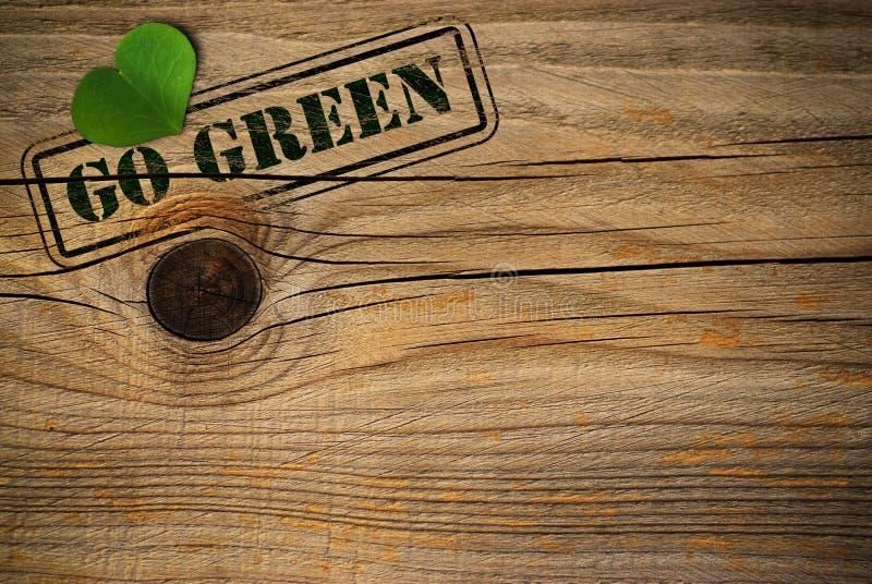 Priorità bassa amichevole di Eco - va il verde immagine stock libera da diritti