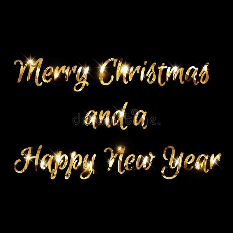 Priorità bassa anno felice di nuovo e di Buon Natale royalty illustrazione gratis
