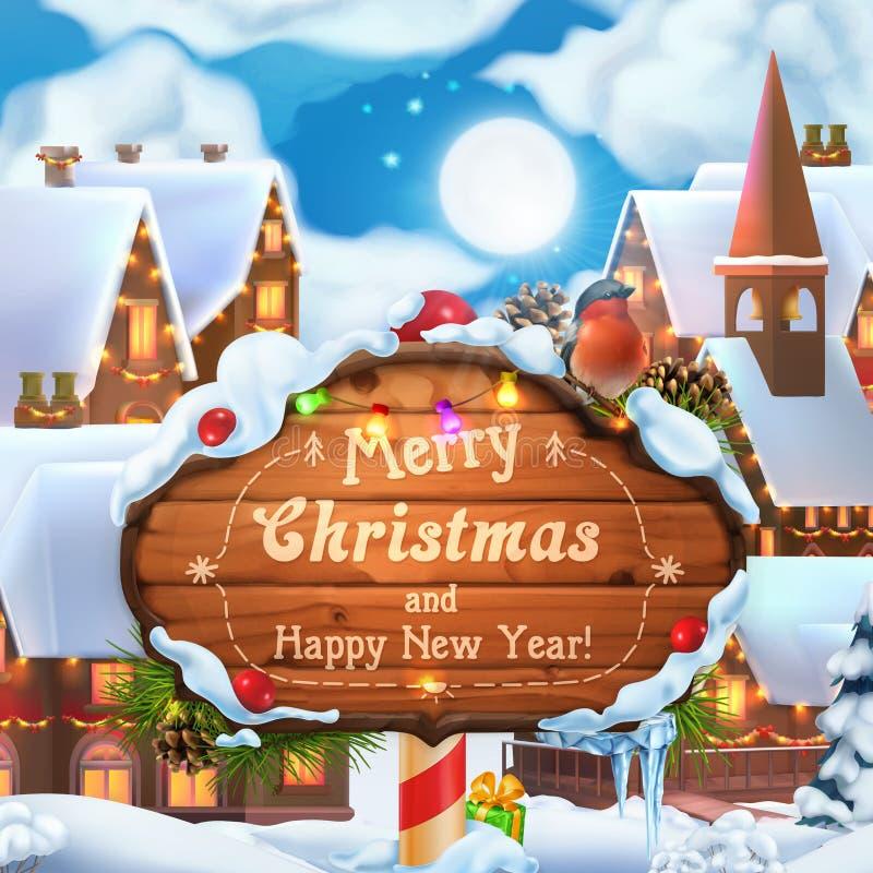 Priorità bassa anno felice di nuovo e di Buon Natale illustrazione di vettore 3d illustrazione di stock