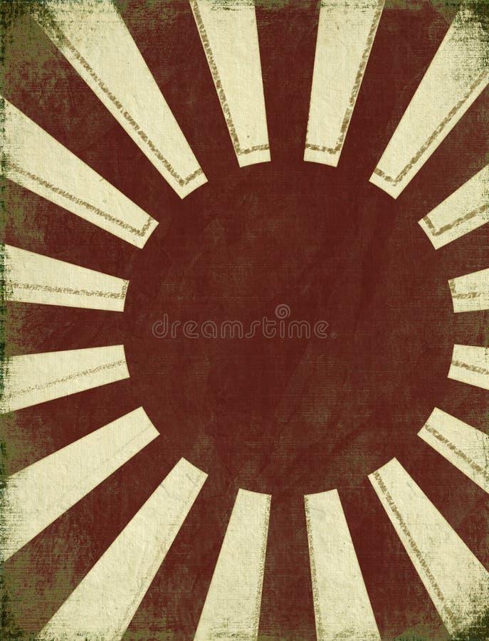 Priorità bassa antica aumentare Sun illustrazione vettoriale