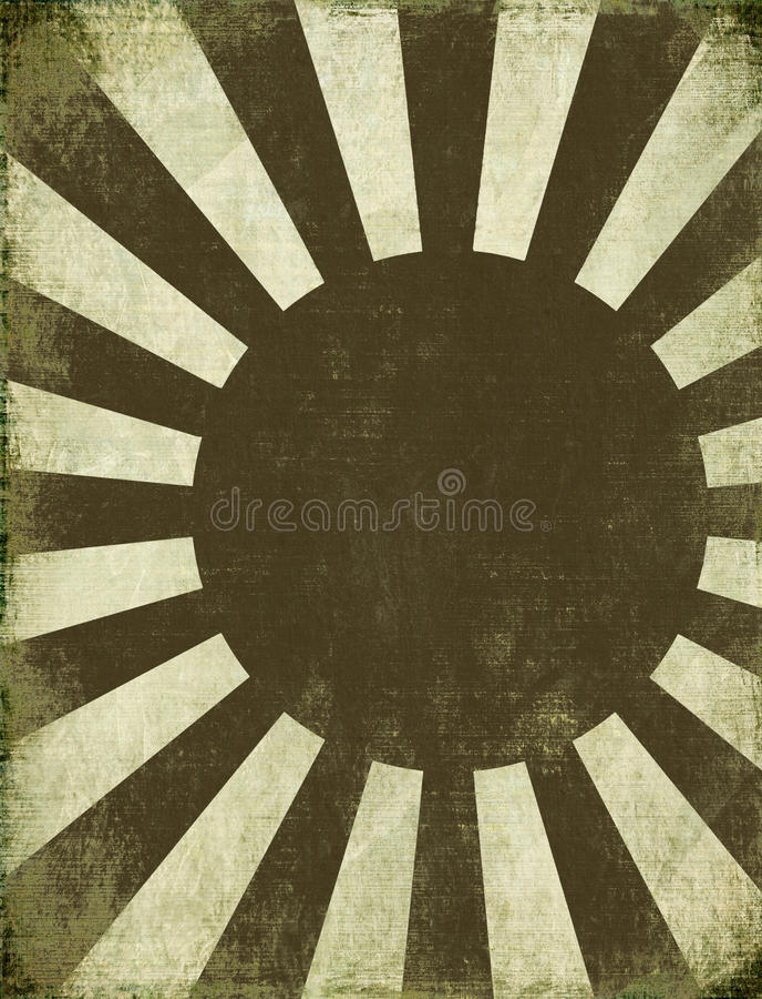 Priorità bassa antica aumentare Sun illustrazione di stock