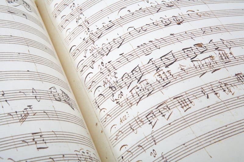 Priorità bassa antica dello strato di musica immagine stock