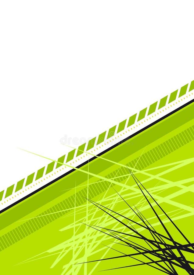 Priorità bassa appuntita verde illustrazione vettoriale