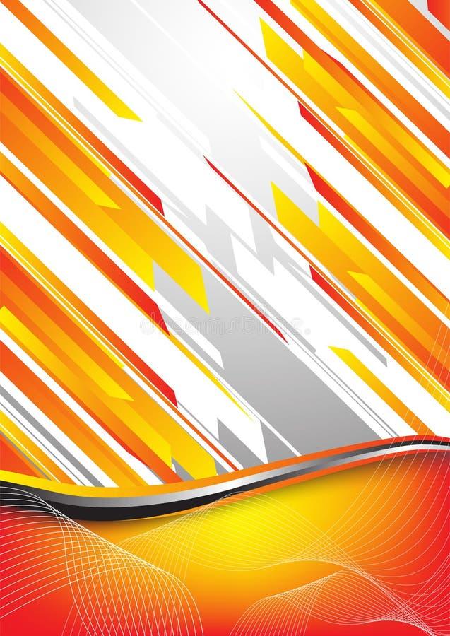 Priorità bassa arancione alta tecnologia illustrazione di stock