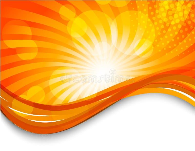 Priorità bassa arancione astratta royalty illustrazione gratis