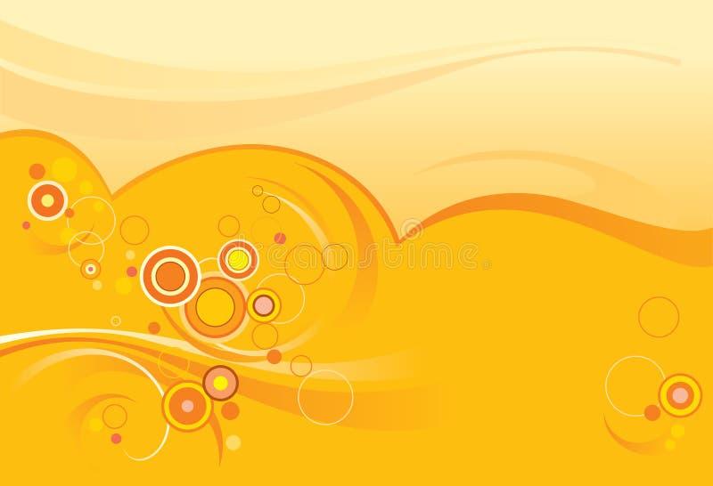 Priorità bassa arancione astratta, cerchi illustrazione vettoriale
