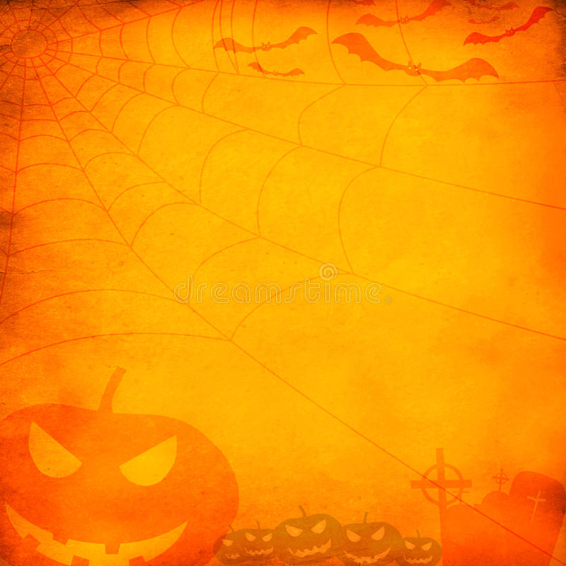 Priorità bassa arancione di Grunge Halloween immagini stock libere da diritti