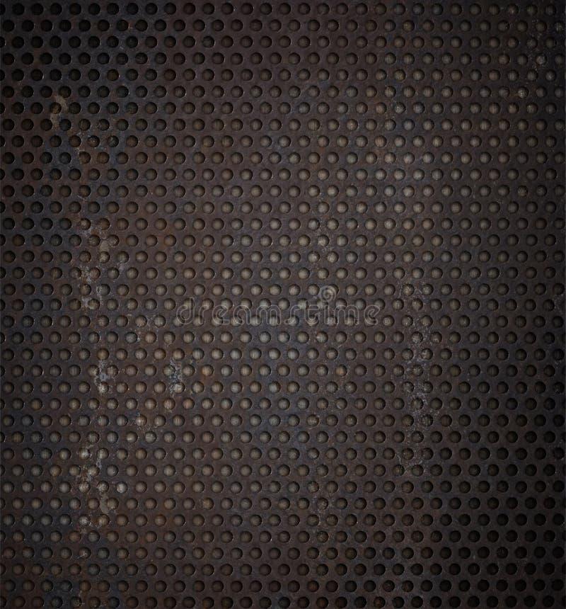 Priorità bassa arrugginita di griglia del metallo di Grunge immagini stock
