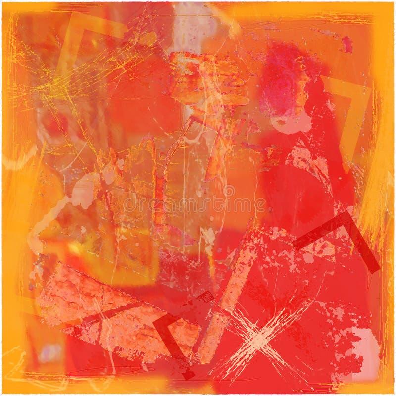 Priorità bassa astratta in arancio con la traversa illustrazione vettoriale