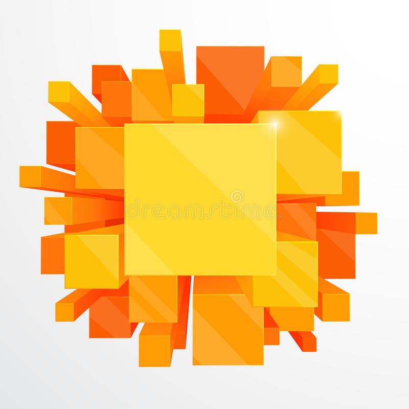 priorità bassa astratta arancione 3d illustrazione vettoriale