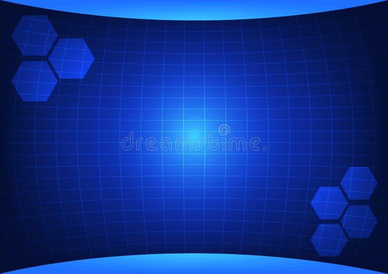 Priorità bassa astratta blu immagini stock libere da diritti