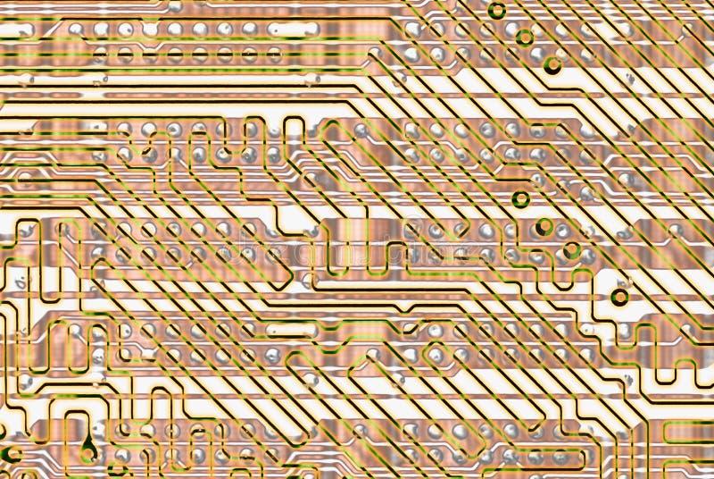 Priorità bassa astratta - circuito dorato royalty illustrazione gratis