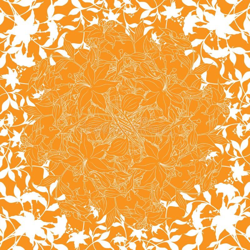 Priorità bassa astratta con gli elementi del fiore, illu della decorazione di vettore illustrazione di stock