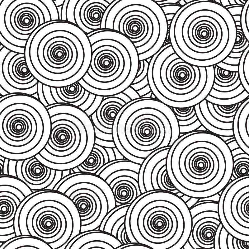 Priorità bassa astratta con i cerchi a spirale royalty illustrazione gratis