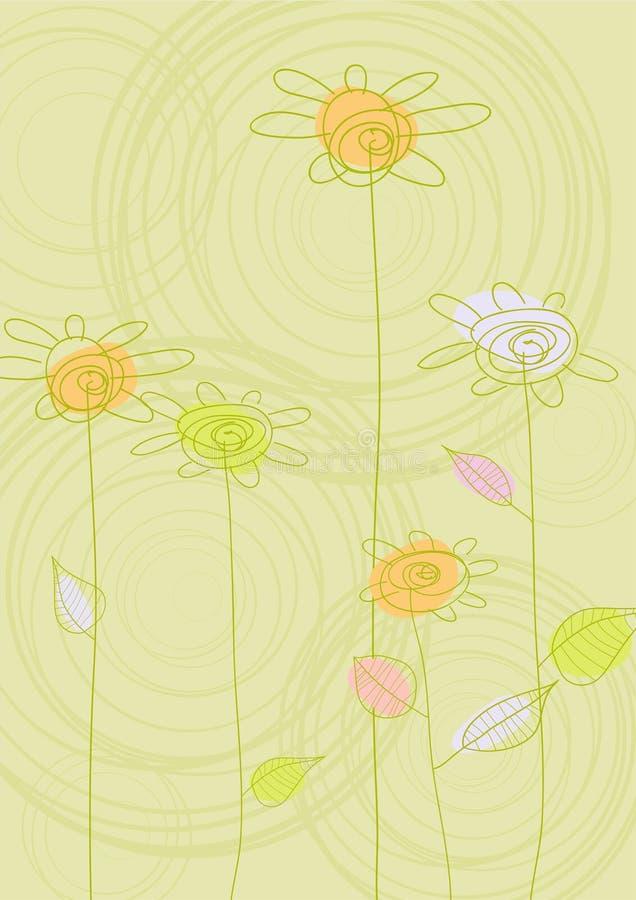 Priorità bassa astratta con i fiori royalty illustrazione gratis