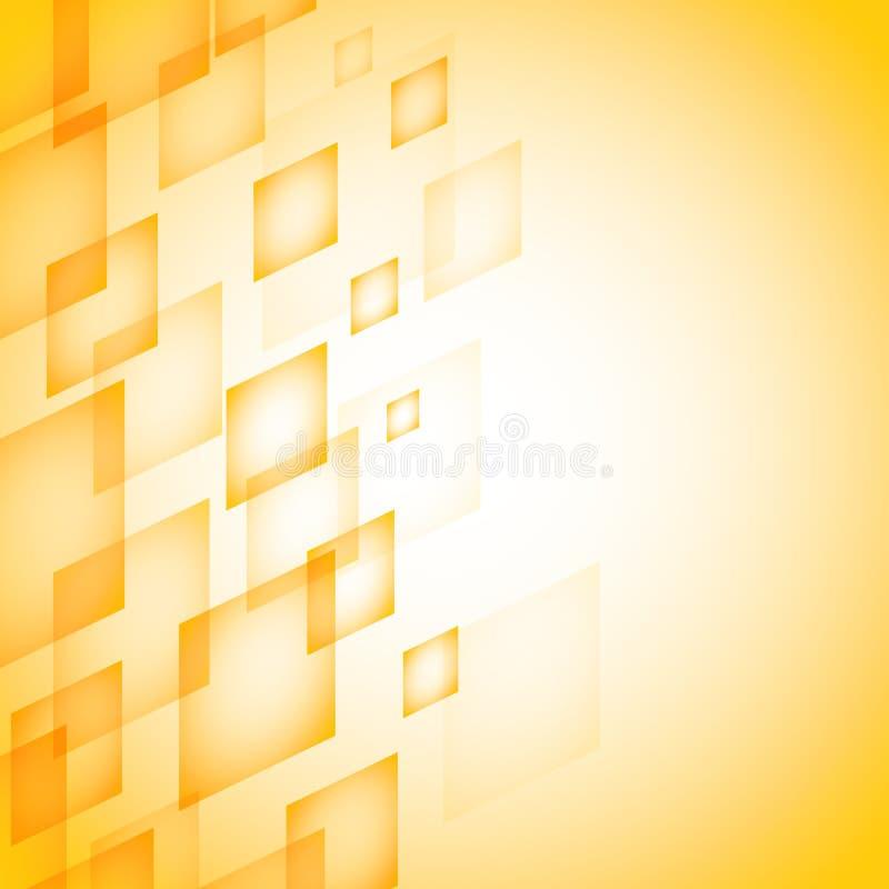 Priorità bassa astratta con i quadrati illustrazione vettoriale