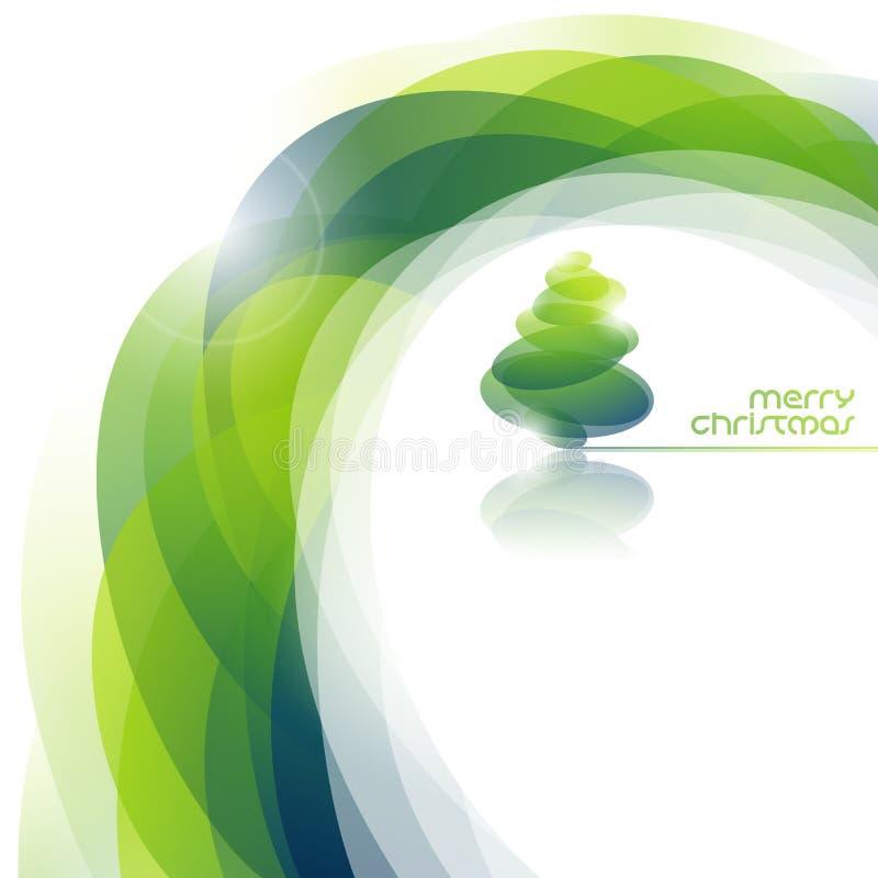 Priorità bassa astratta con l'albero di Natale lucido. illustrazione di stock