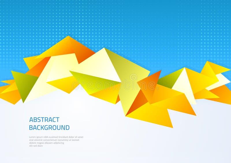 Priorità bassa astratta con le figure geometriche Modello sul tema dell'affare e della tecnologia moderna illustrazione vettoriale