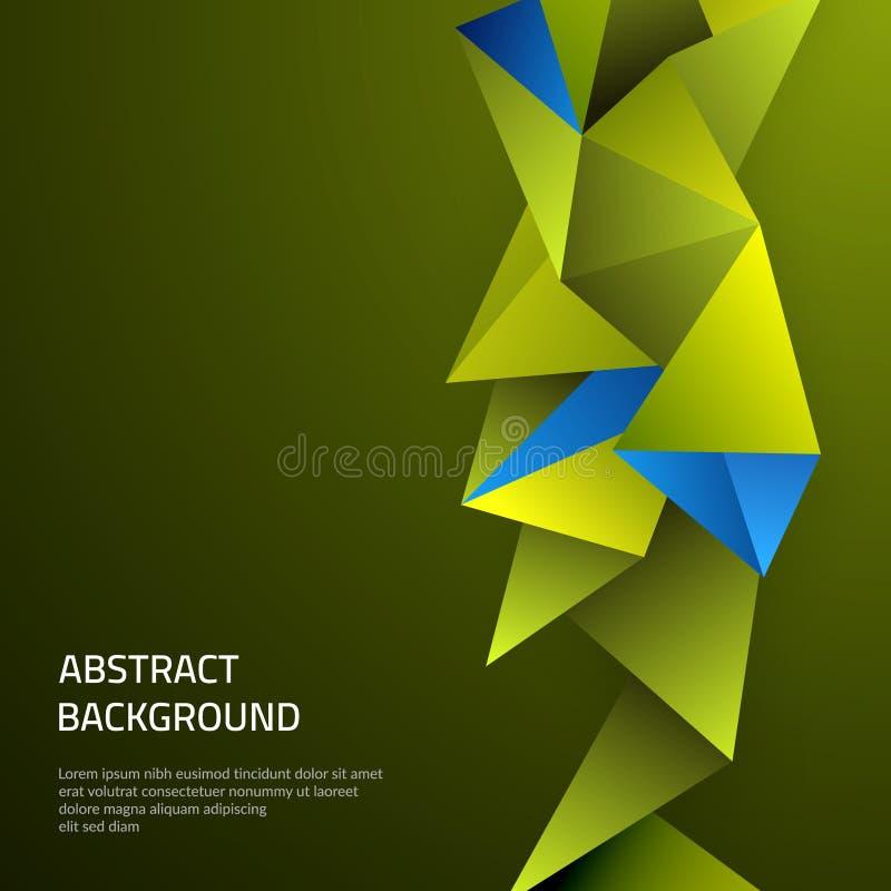Priorità bassa astratta con le figure geometriche Modello sul tema dell'affare e della tecnologia moderna illustrazione di stock