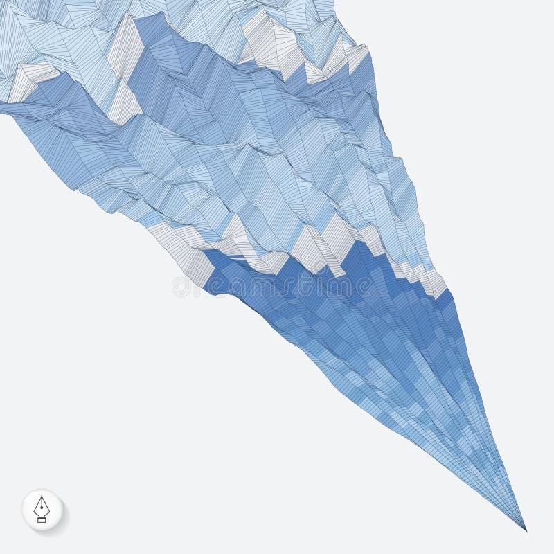 Priorità bassa astratta con le onde mosaico vettore 3d illustrazione di stock