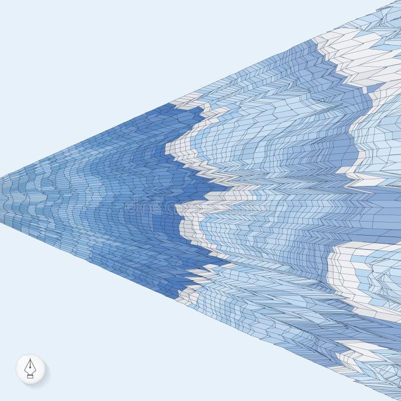 Priorità bassa astratta con le onde mosaico vettore 3d royalty illustrazione gratis