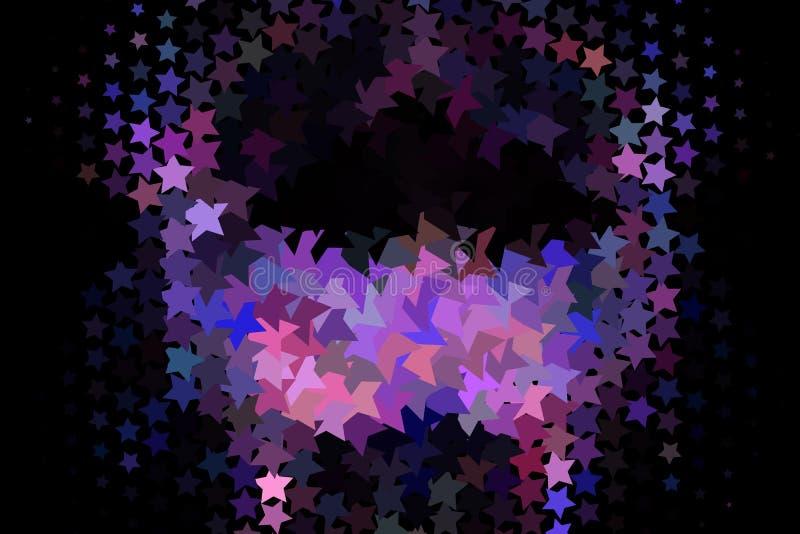 Priorità bassa astratta con le stelle Effetto di semitono illustrazione vettoriale